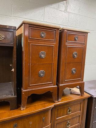 "|CUSTOMIZE| Vintage nighstands- 14"" wide x 19"" deep x 30-1/2"" tall"