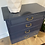 "Thumbnail: |BUY NOW| Navy blue lacquered chest - 26"" long x 13"" deep x 30"" tall"