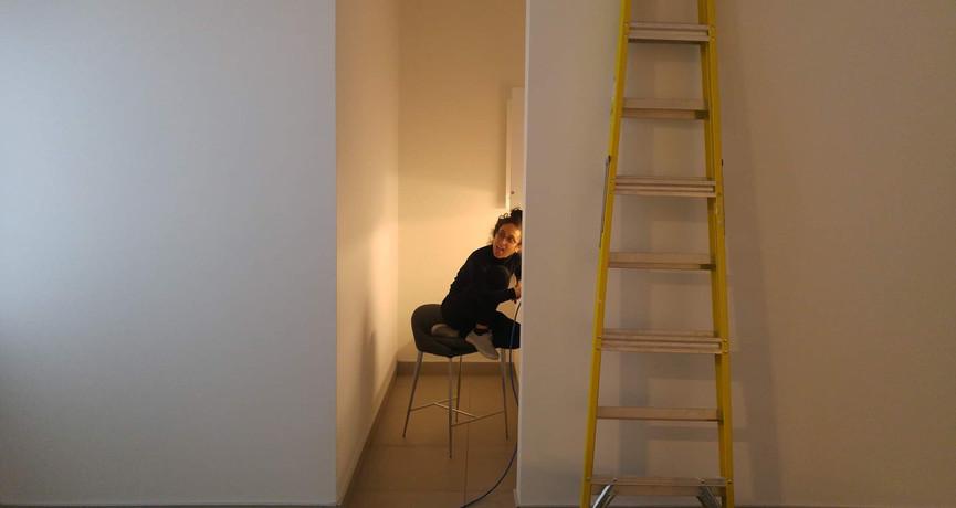 Mid- installation At the Léonard- Parent Art Gallery