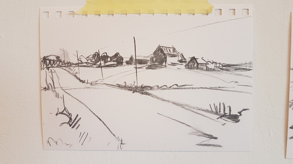 Middle Sackville charcoal sketch