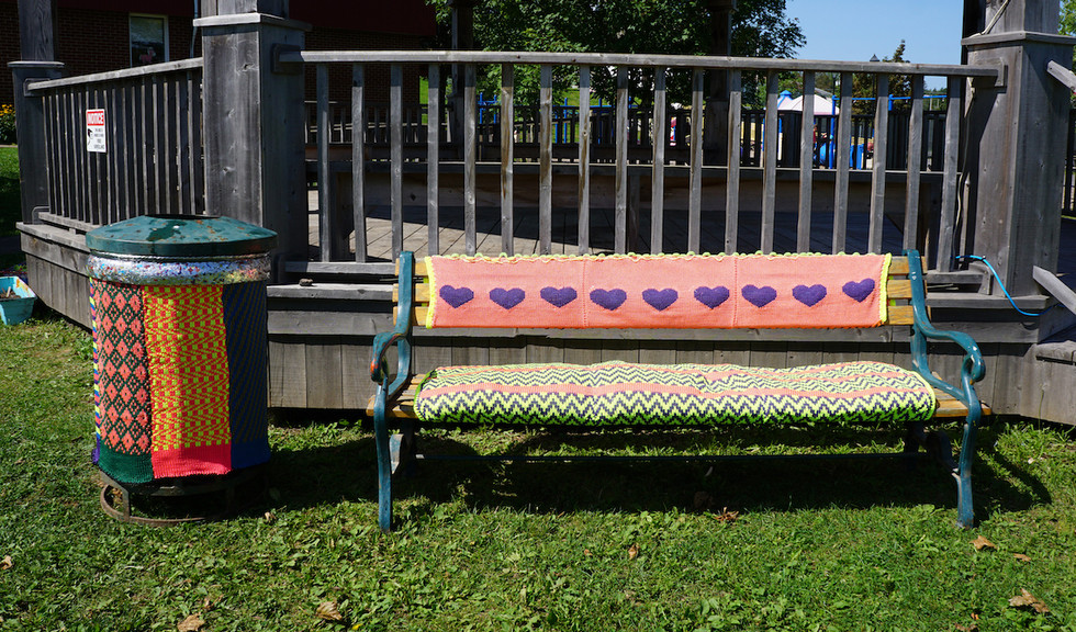 Garbage Can Cozy and Park Bench Cozy   Arianna Richardson   Umbrella Projects