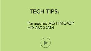 TECH TIPS   Panasonic HMC40P HD AVCCAM