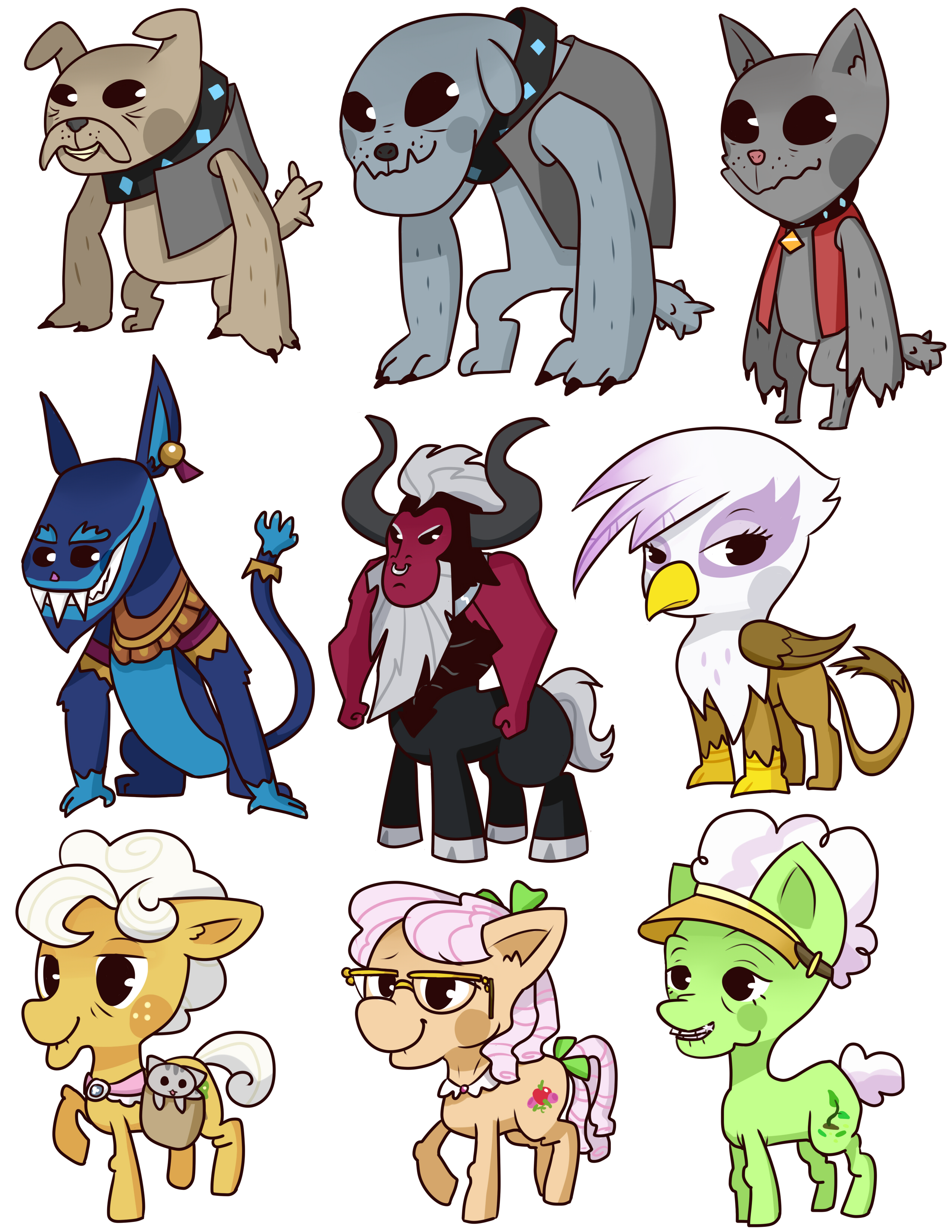 weird pony badges