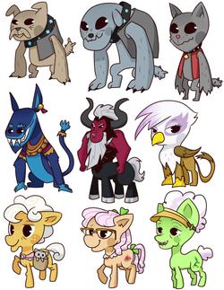 weird pony badges