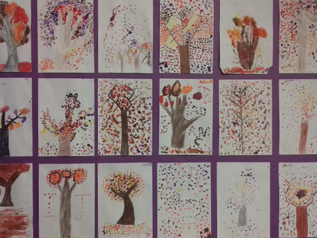 Autumnal Art in 4th/5th Class