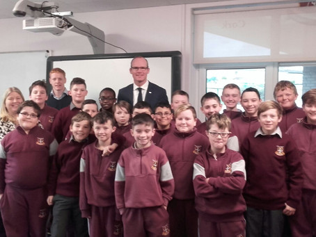 Minister Simon Coveney visits our class
