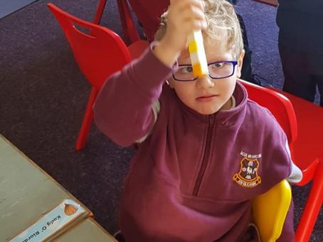 Making patterns in Senior Infants!