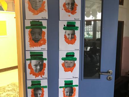 Happy St. Patrick's Day from Senior Infants ☘️🌈