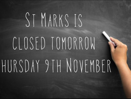 School closed Thurs 9th November