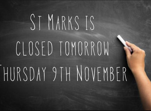 School closed Thurs 9th November