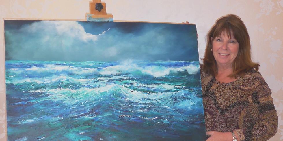 """Stormy Seascape"" with Sue Farrington"