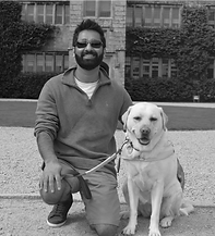 Dr Amit Patel and his dog