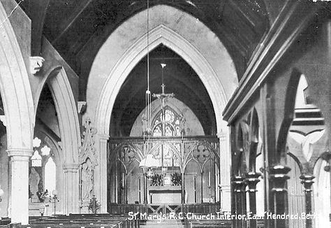 St Mary's interior postcard posted 1904