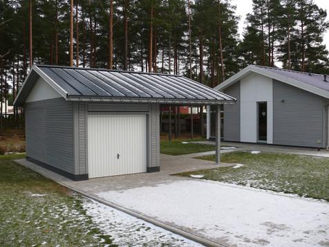 Divu soļu saimniecības ēka