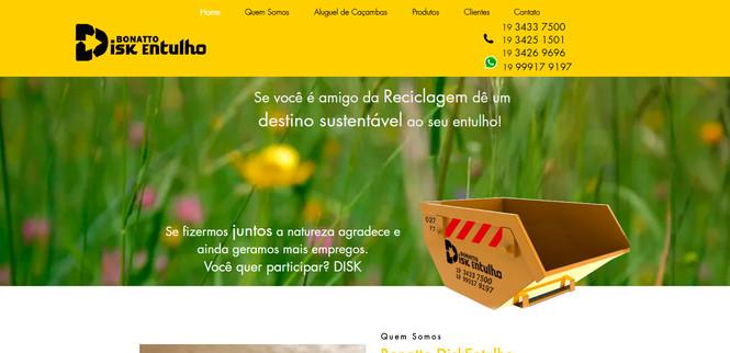 Website Bonatto DiskEntulho