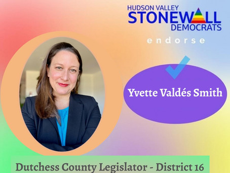 Hudson Valley Stonewall Democrats Endorse YVS