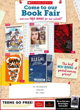 Scholastic Book Fayre 3rd - 10th October