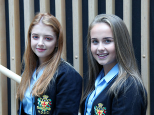 Our new head girl and deputy head girl