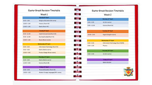Year 11 Easter Break Revision Timetable