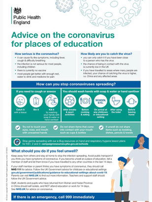 Public Health England Advice