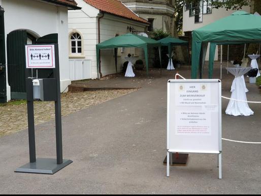 Weinausschank in Schloss Cappenberg