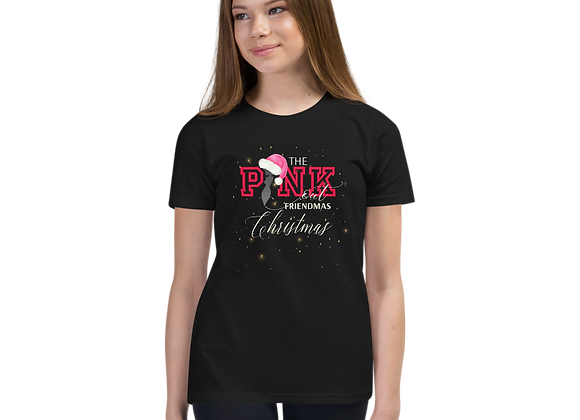 The PINK Out Friendmas Christmas Youth T-Shirt