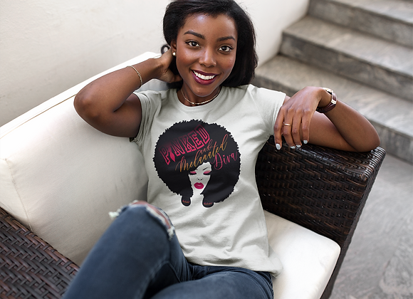 Pinked & Melanated Diva Ladies Tee