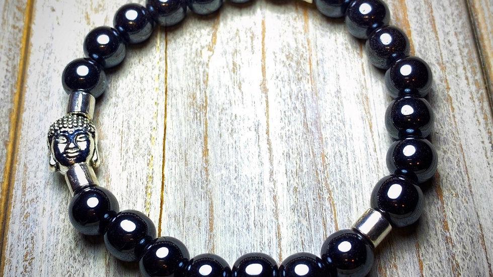 Hematite Grounding Buddha Bracelet