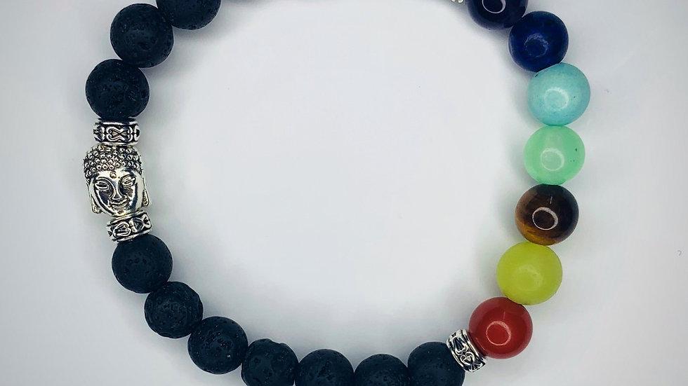 Grounding Chakra Bracelet (Lava Beads)