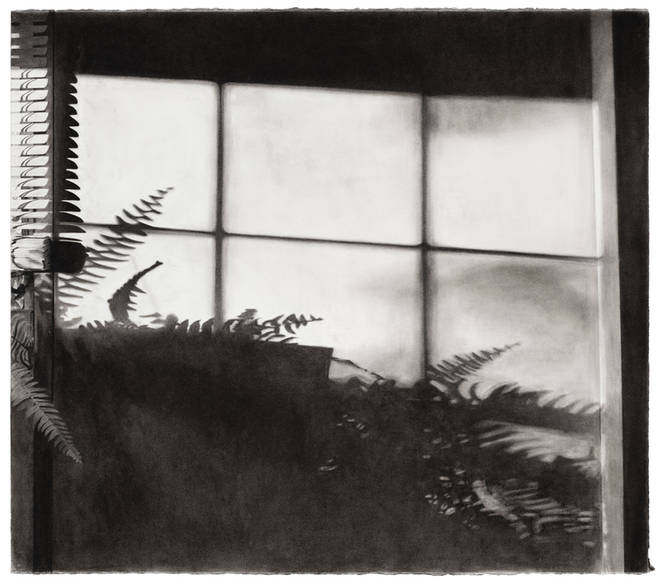 """""""Afternoon"""" Charcoal and graphite on paper 42-1/2"""" x 48"""""""