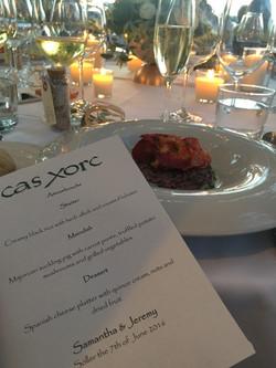 Cas Xorc Wedding Dinner