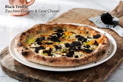 Kabak Çiçeği ve Keçi Peynirli Pizza