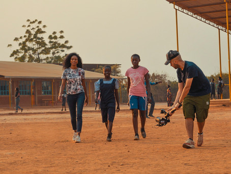 Filming at Malaika school in Congo