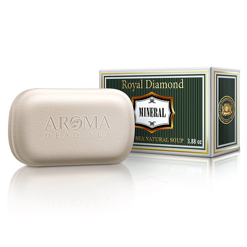Royal Diamond πακέτο στερεά σαπούνια με βιολογικά ορυκτά της Νεκράς Θάλασσας