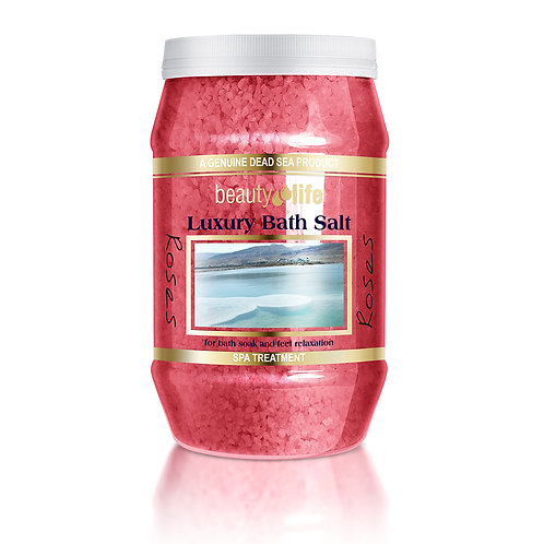 """מלח אמבט טבעי 1.3 ק""""ג ורדים"""