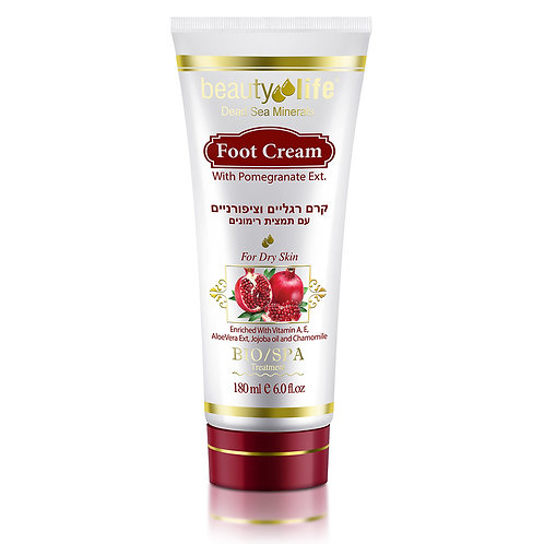 Foot Cream with Pomegranate Ext 180 ml