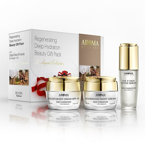 Deep Hydration Beauty kit with Dead Sea Minerals and Argan Oil+Free Shipping
