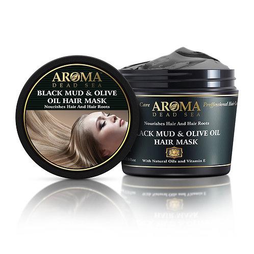 Θεραπευτική μάσκα μαλλιών με μαύρη λάσπη της Νεκράς Θάλασσας, ελαιόλαδο και