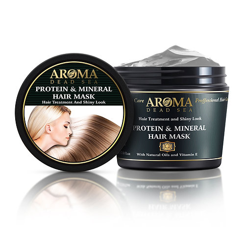 Μάσκα μαλλιών με Βιολογικά Ορυκτά της Νεκράς Θάλασσας, με βιταμίνη Ε και πρωτε