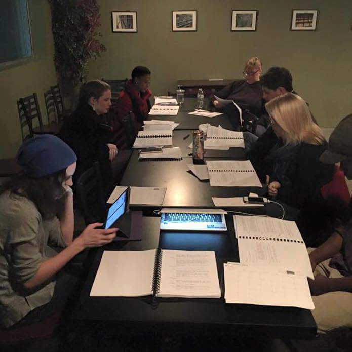 The cast at our first read through