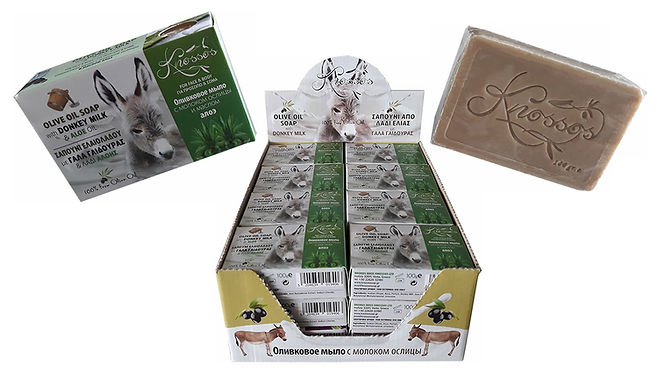 Olive Oil Soap with Donkey Milk & Aloe