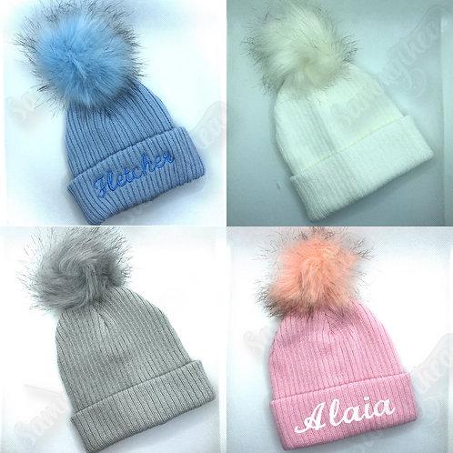 Fur Pom-Pom hats