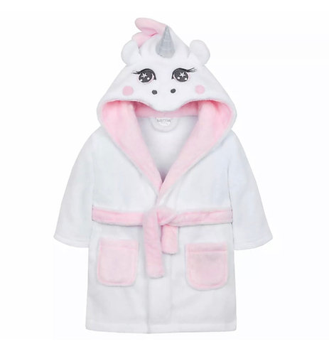 Unicorn baby dressing gown