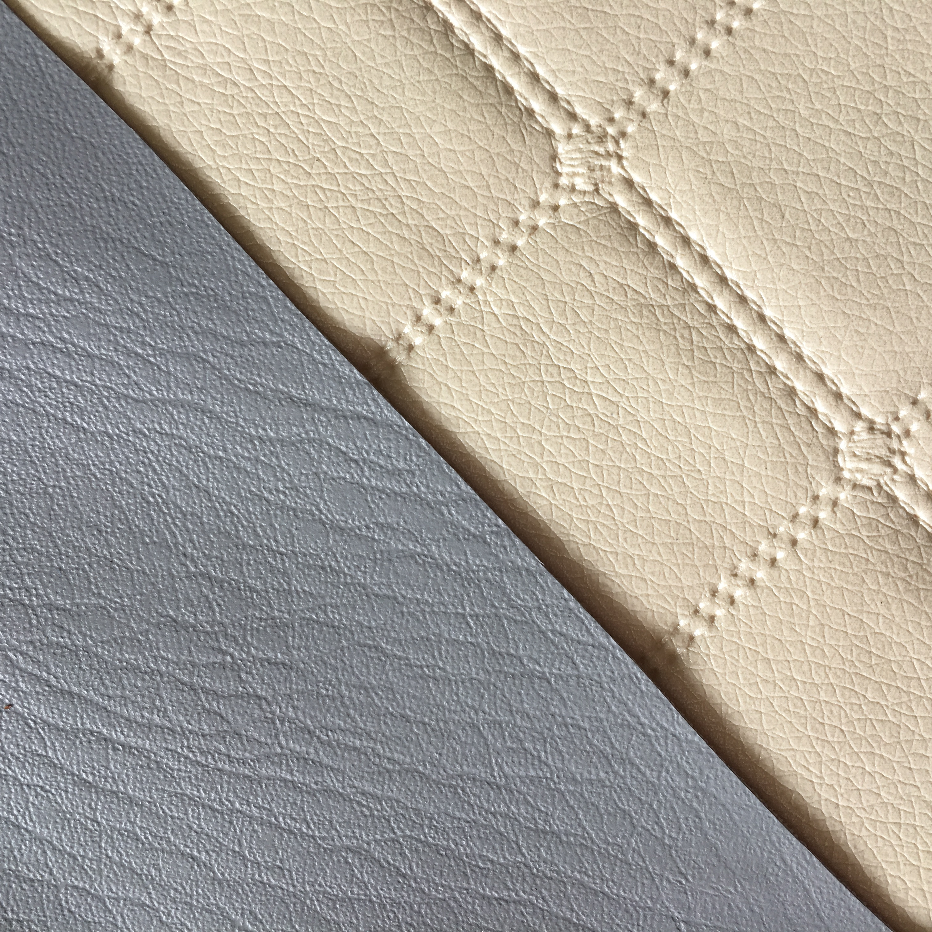 Cream pearlescent quilted