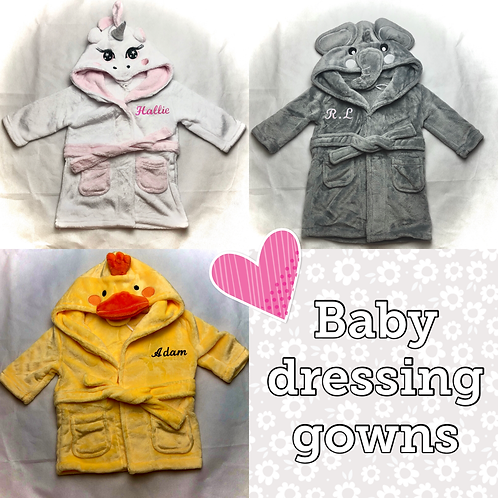 Baby dressing gowns