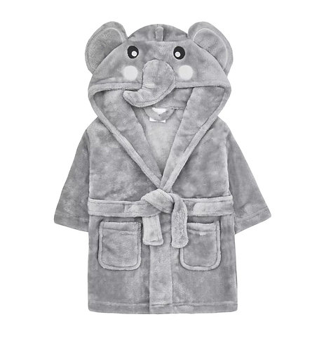 Elephant baby dressing gown