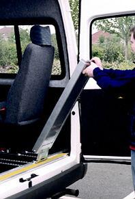 a titan wheelchair ramp for a van