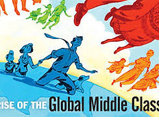 picture showing global middle class growing