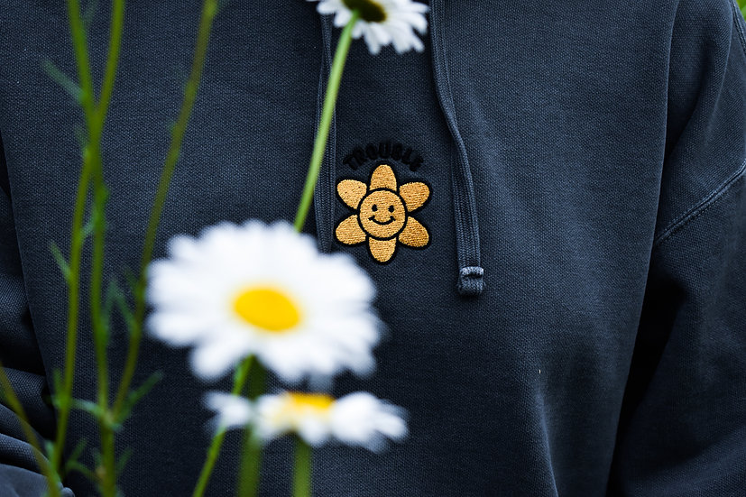 Embroidered Flower Power Hoody