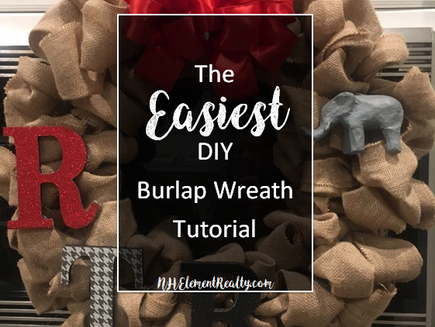 The EASIEST Tutorial for Making A Burlap Wreath